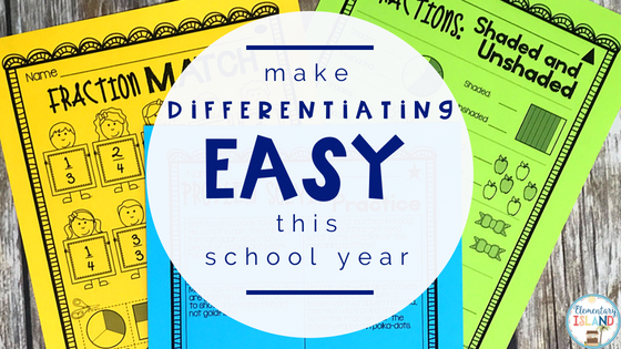 how to differentiate instruction in elementary classroom