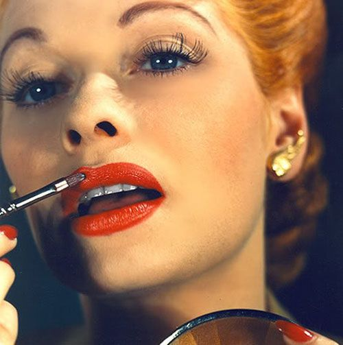instructions for lucille ball makeup