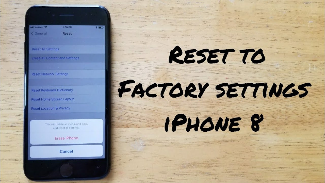 instructions to restore an iphone to factory settings