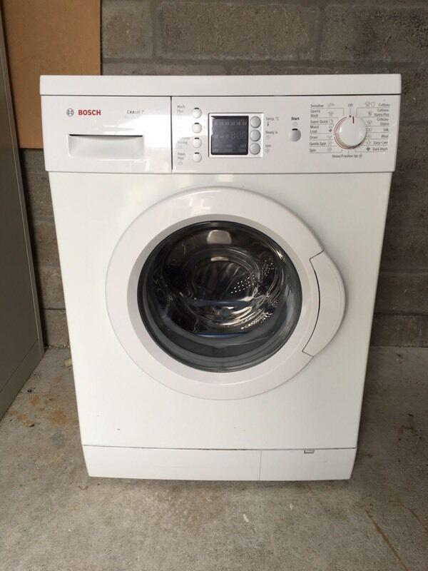 bosch exxcel 7 washing machine instructions