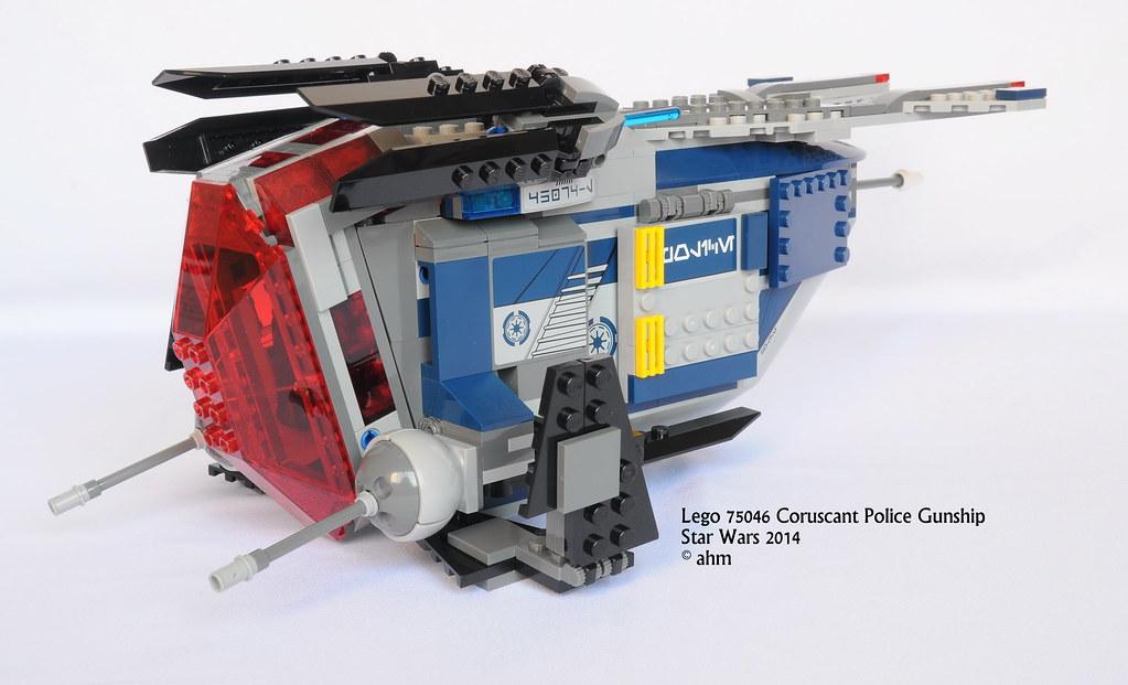 lego coruscant police gunship instructions