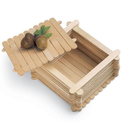craft stick treasure box instructions