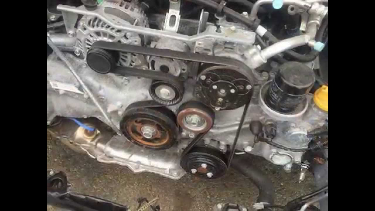 subaru outback timing belt replacement instructions