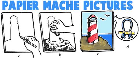 claycrete papier mache instructions