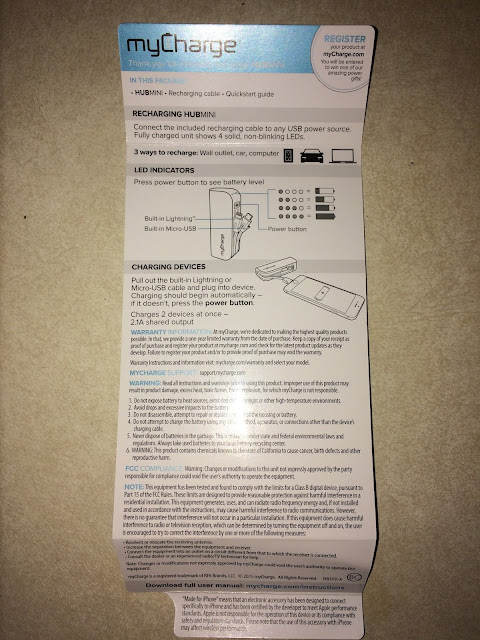 mycharge portable charger instructions
