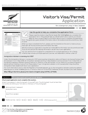 new zealand visitor visa immigration instructions
