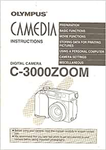 olympus camedia c-3000 zoom instruction manual
