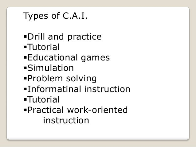 characteristics of computer assisted instruction