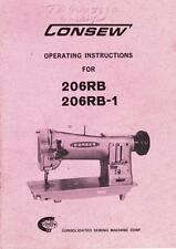 consew 290 instruction manual