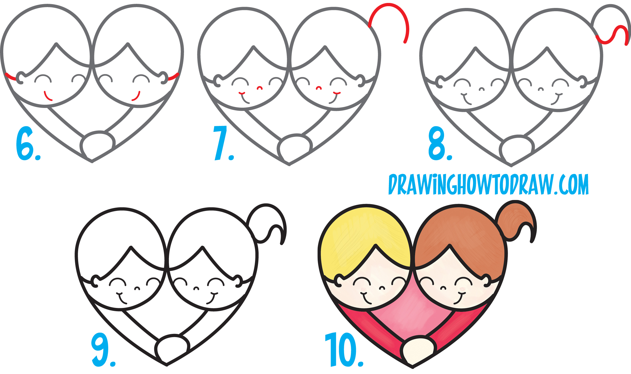 fun 2 draw heart with instructions