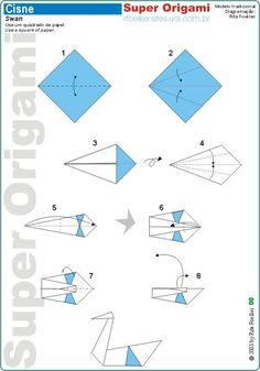 instructions for making an origami crab