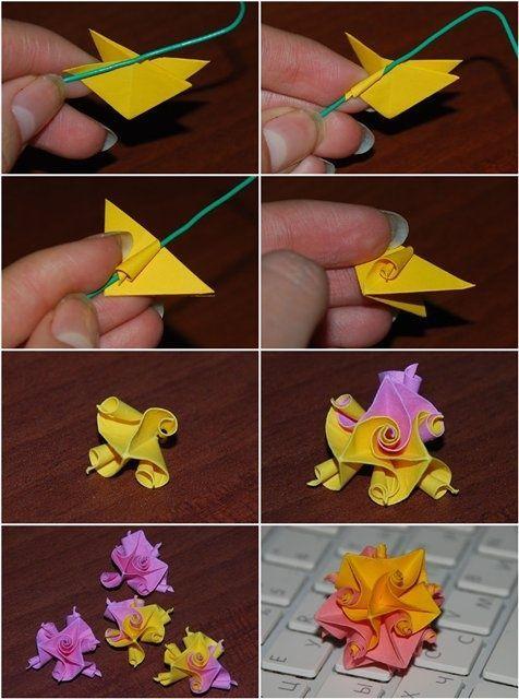 kusudama doll folding instructions