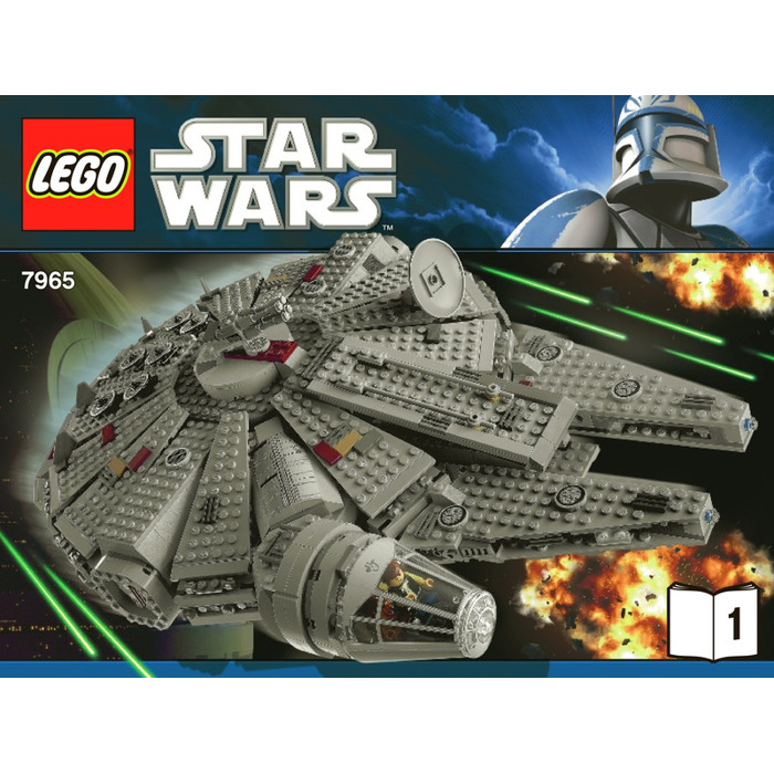 lego star wars 7965 millennium falcon instructions