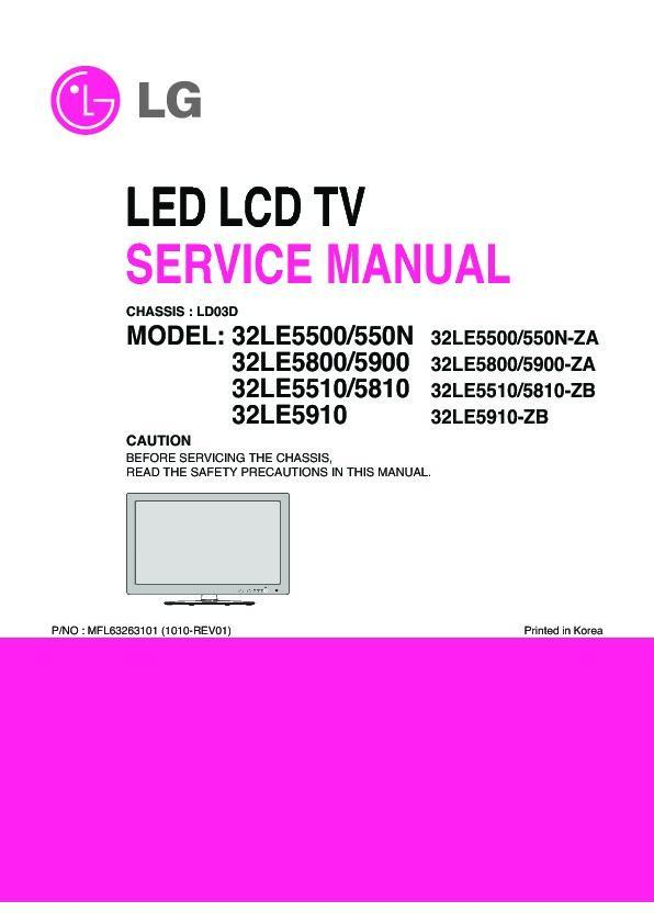 lg television model ld-350ta instruction book