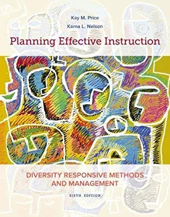 planning effective instruction diversity resonsie methods and management