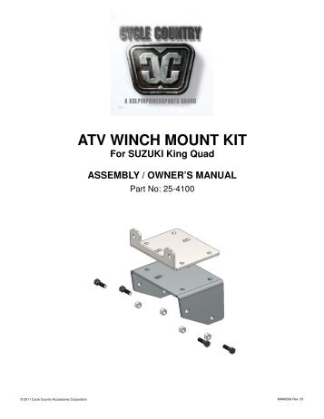 winch mount 99950-70225 instructions
